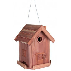 Kombinerad fågelmatare och fågelbo - 22x29x22 cm