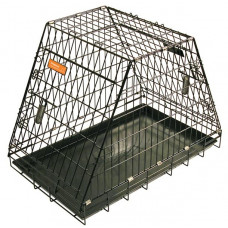 "Hundbur i stål ""Pyramid"" - 92.5x57.5x65.5 cm"