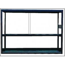Terrarium aluram Svart - 150x60x100 cm - 900 liter