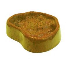Terra-Puzzle Keramikskål Glaserad - 19x14 cm - Gul