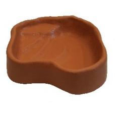 Terra-Puzzle Keramikskål Glaserad - 24x19 cm - Röd