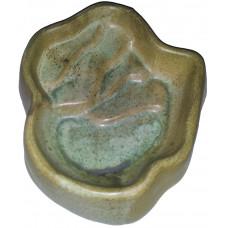 Terra-Puzzle Keramikskål Glaserad - 28x26 cm - Grön