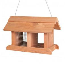 Fågelmatare Hängande i cedarträ - 25x17x15 cm