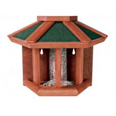 Nautra Fågelmatare med silo för väggmontering - 45x32x21 cm